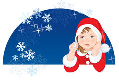 Christmas Dwarf, snowflakes Royalty Free Stock Photos