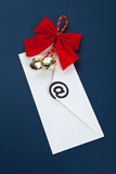 Christmas E-Mail Stock Photo