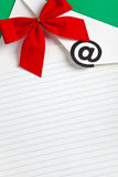 Christmas E-Mail Royalty Free Stock Photography