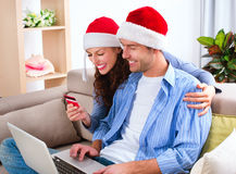 Christmas E-Shopping Stock Image