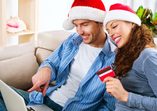 Christmas E-Shopping Stock Photos