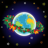 Christmas Earth Royalty Free Stock Image