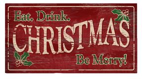 Free Christmas Eat Drink Be Merry Party Invitation Stock Images - 119665424