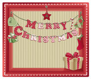 Christmas eco background Royalty Free Stock Photo
