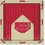 Christmas eco label with letter Stock Photos