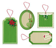 christmas eco labels green Stock Photo