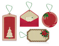 christmas eco labels red Royalty Free Stock Images