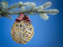 Christmas ecological decoration Royalty Free Stock Photos