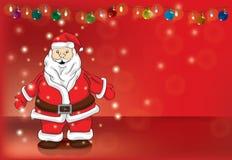 Santa magic hug stock illustration