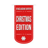 Christmas edition banner design Royalty Free Stock Photography