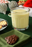 Christmas egg nog and cookies Royalty Free Stock Image