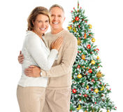 Christmas elderly couple Royalty Free Stock Image