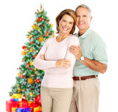Christmas elderly couple Stock Photography