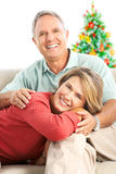 Christmas elderly couple Stock Image