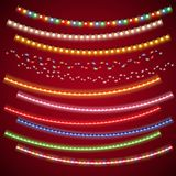 Christmas Electric Garlands Set Stock Images