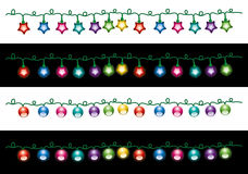 Vector Christmas electric light lamps Stock Images