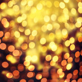 Christmas elegant abstract background with bokeh lights and star. S. Glitter vintage lights background Stock Photos