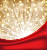 Christmas elegant background with glow effect Stock Photo