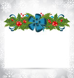 Christmas elegant card with holiday decoration Royalty Free Stock Photos