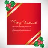 Christmas elegant card with mistletoe Stock Photo