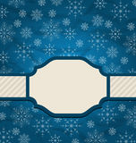 Christmas elegant card with snowflakes Stock Image