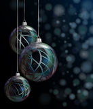 Christmas elegant glass baubles Royalty Free Stock Images
