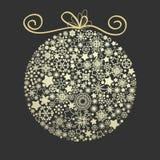 Christmas elegant golden ball Royalty Free Stock Images