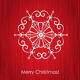 Christmas elegant snowflake illustration Royalty Free Stock Image