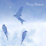 Christmas elegant watercolor card Stock Image
