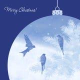 Christmas elegant watercolor card Stock Images