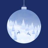 Christmas elegant watercolor card Royalty Free Stock Image