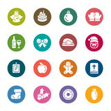 Christmas Element Color Icons Royalty Free Stock Photography