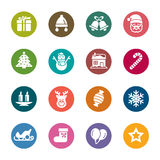 Christmas Element Color Icons Stock Image