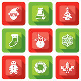 Christmas Element design icon set Royalty Free Stock Photography