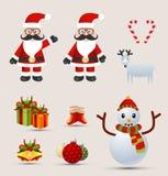 Christmas element design vector set. Royalty Free Stock Image