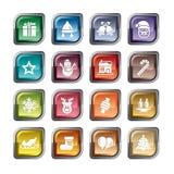 Christmas Element Icons Stock Image