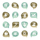 Christmas Element Icons Royalty Free Stock Photos