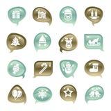 Christmas Element Icons Royalty Free Stock Photos