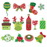 Christmas Element Icons Stock Images