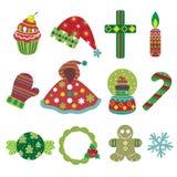 Christmas Element Icons Stock Photos