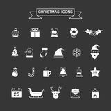 Christmas element icons for designs postcard, invitation, poster Stock Image