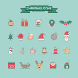 Christmas element icons for designs postcard, invitation, poster Stock Photos