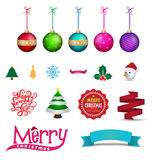 Christmas element object for Greeting Card. Stock Photos