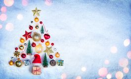 Christmas Element In Shape Tree royalty free stock photography