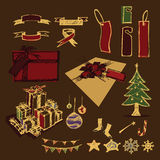 Christmas element sketch of  Stock Images