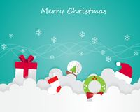 Christmas Element On Sky and Greeting Card Background Illustration Stock Photography