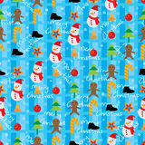 Christmas element texture seamless pattern. Illustration abstract Merry Christmas elements textile texture seamless pattern stripe blue background design Stock Images