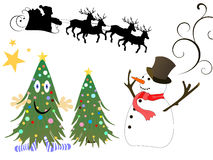Christmas elements. Vector illustration of christmasy elements Royalty Free Stock Photo