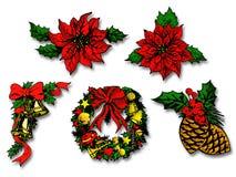 Christmas elements Stock Image