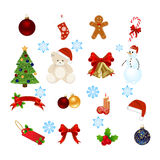 Christmas elements Royalty Free Stock Photo